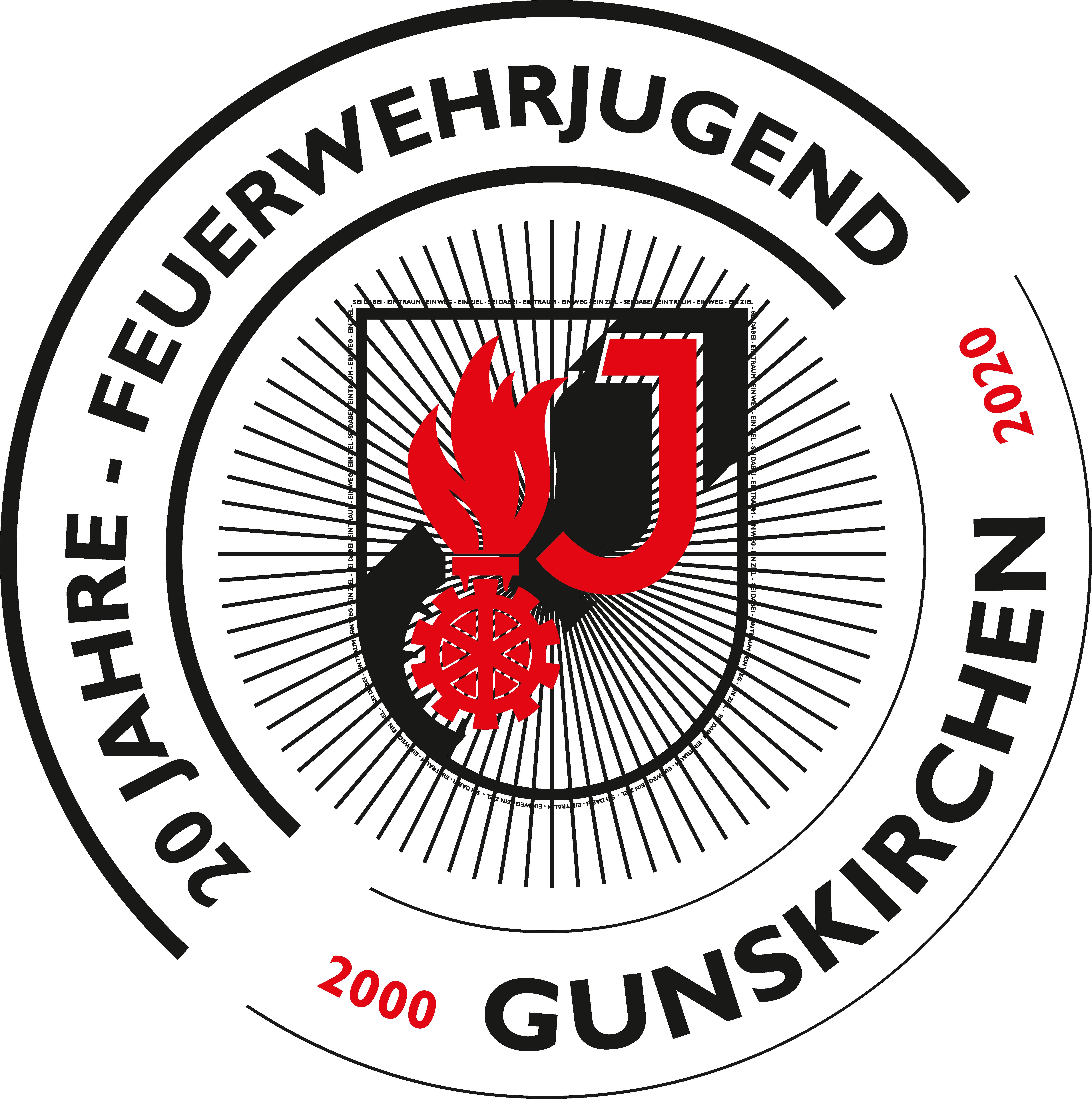 Logo 20 Jahre Feuerwehrjugend Gunskirchen