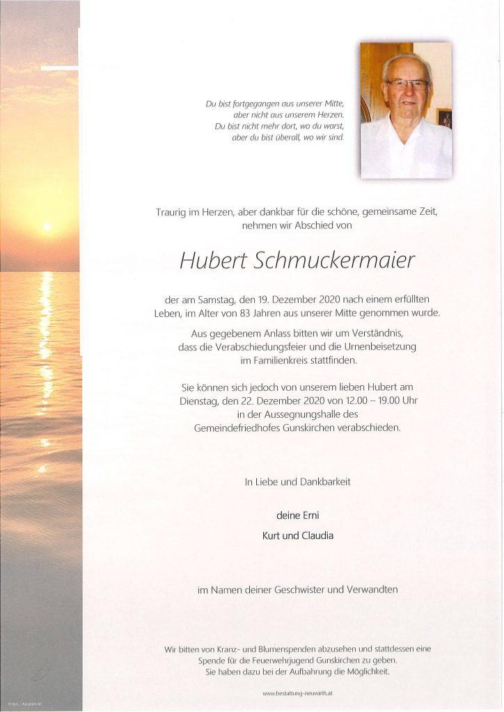 Trauerparte Hubert Schmuckermaier